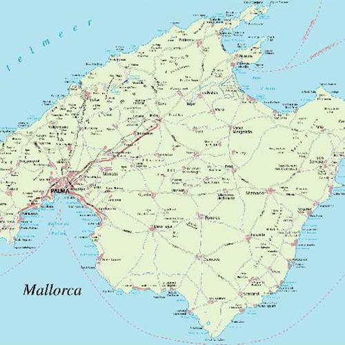 Landkarte Mallorca Gedruckt Oder Digital Verfugbar